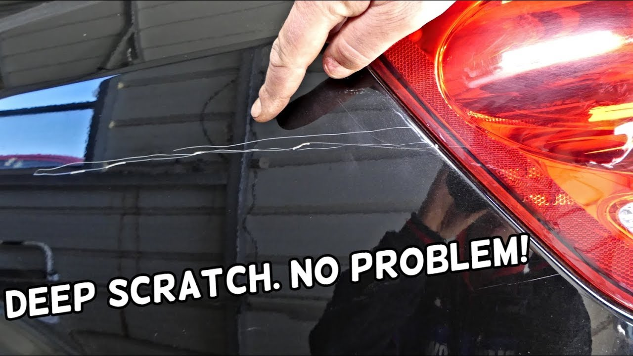 Deep Scratch Repair >> HOW TO REPAIR DEEP CAR PAINT SCRATCH LIKE A PRO - YouTube