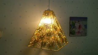D.I.Y. Lamp from Reused paper(piramid)