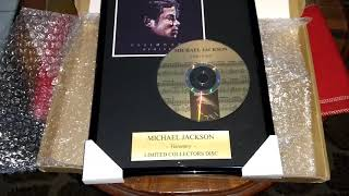 Michael Jackson Visionary Limited Collectors Disc UNBOXING