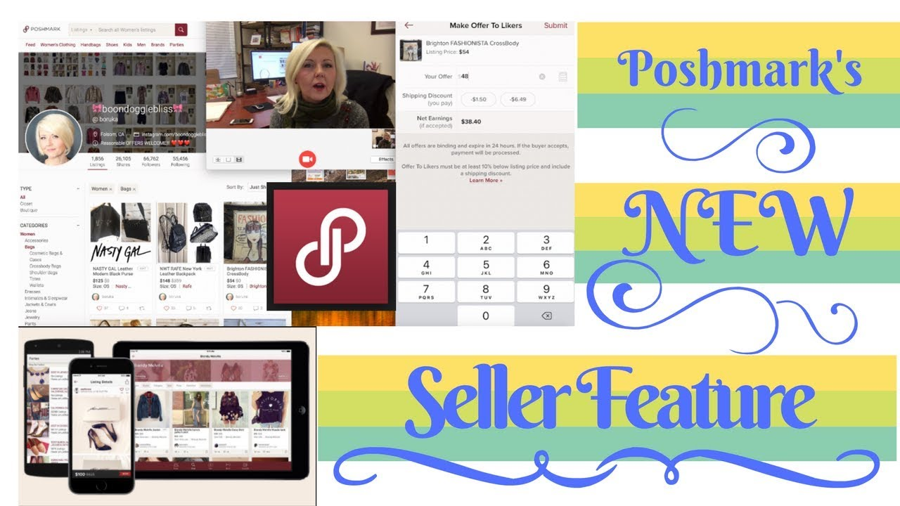 POSHMARK 2018 FEB APP UPDATE New Seller Feature Show & Tell and More!