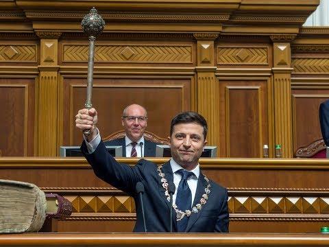 Ukraine swears in TV star as new president