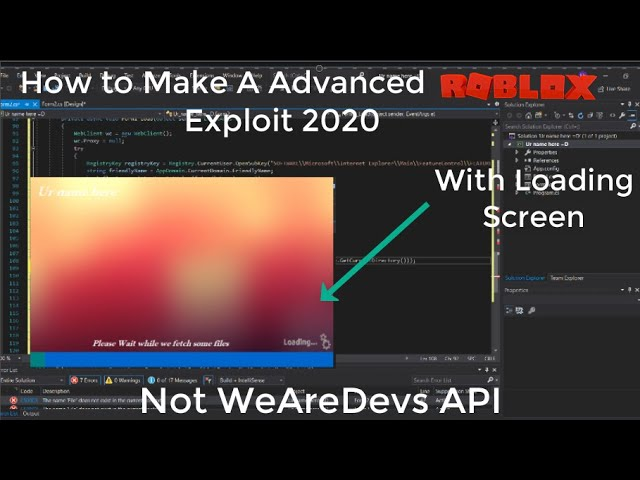 We Are Devs Roblox How To Make A Advanced Roblox Exploit 2020 Not Wearedevs Api Youtube