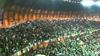 Unbelievable support as Irish fans sing Fields of Athenry at end of Spain match (0-4) Euro 2012.
