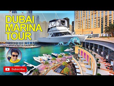 [4K] Dubai Marina Walk   Dubai Marina Tour   Dubai Tourist Attractions   Best Place in Dubai