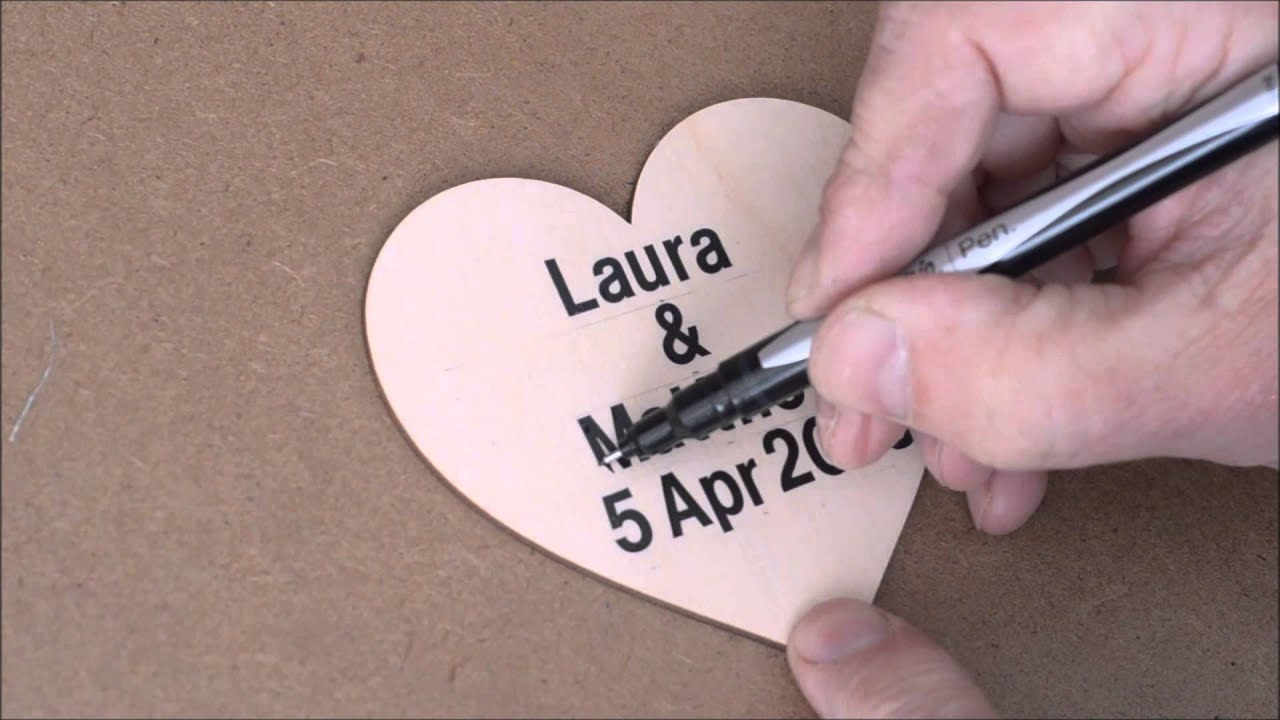 Wedding Guest Drop Box - 3 Ideas for your central heart - YouTube