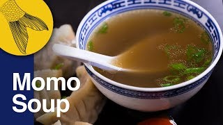 Momo Soup Recipe | Clear Soup for Momo | Clear Pork Stock or Broth | Kolkata Street Food