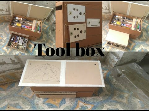 Download How to make Toolbox || Homemade Toolbox || make a cardboard toolbox