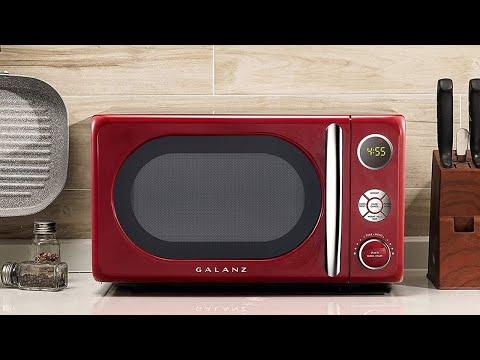 Galanz GLCMKA07RDR-07 Microwave Oven, LED Lighting, Pull Handle Design