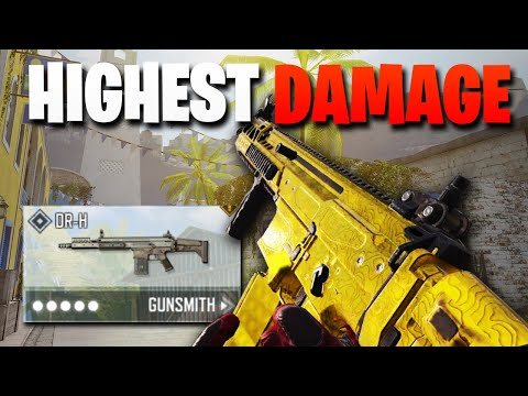 The HIGHEST DAMAGE AR With ZERO Recoil Gunsmith Build in COD Mobile! DR-H Gunsmith Loadout! (insane)