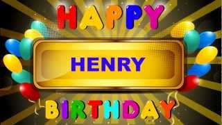 Henry - Card Tarjeta - Happy Birthday