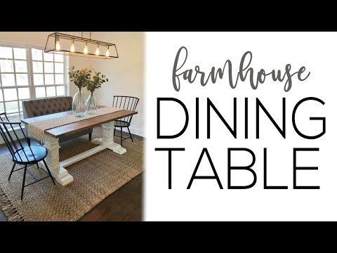 DIY Farmhouse Pedestal Dining Table