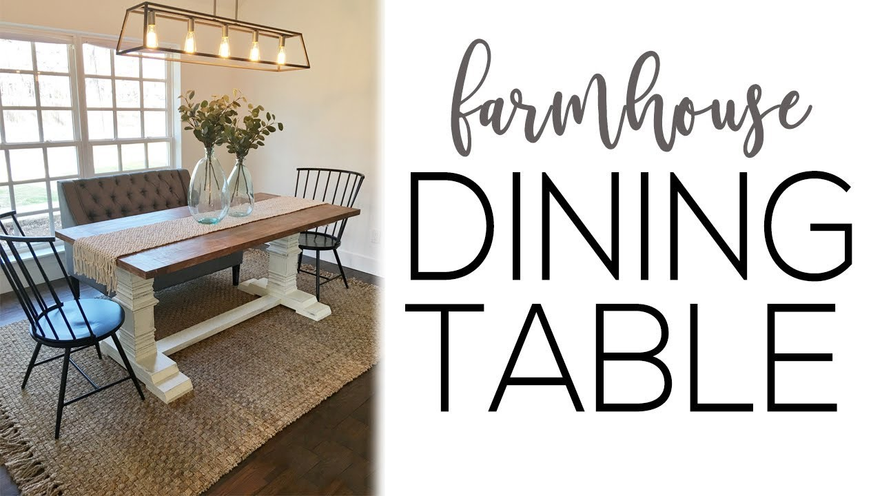 46 Farmhouse Table Diy Plans Cut The Wood