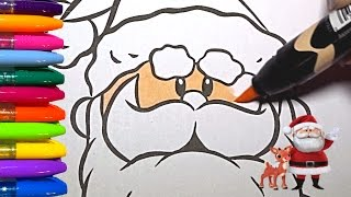 RUDOLPH, SANTA CLAUS AND MISFIT TOYS | Merry Christmas - 4 colorings!