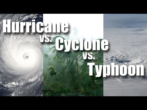Hurricane vs Cyclone vs Typhoon