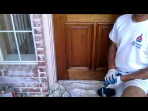 Perfect How To Refinish Your Front Door (stain Grade Wood)   YouTube