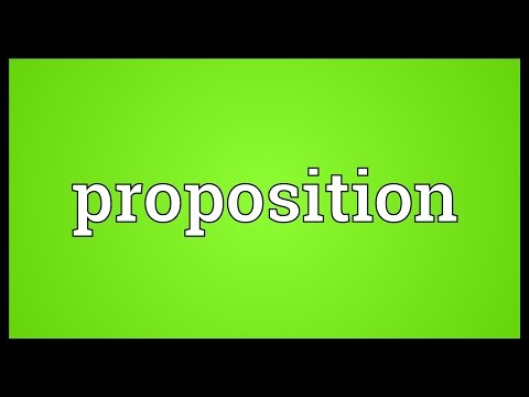 Proposition Meaning