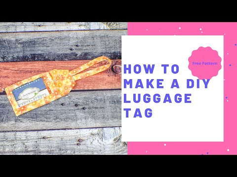 How to Make a DIY Luggage Tag
