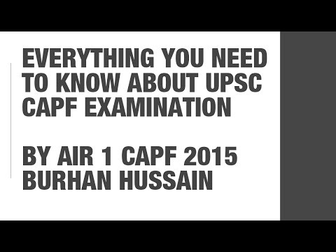 AIR 1 UPSC CAPF 2015 Burhan Hussain: Everything you need to