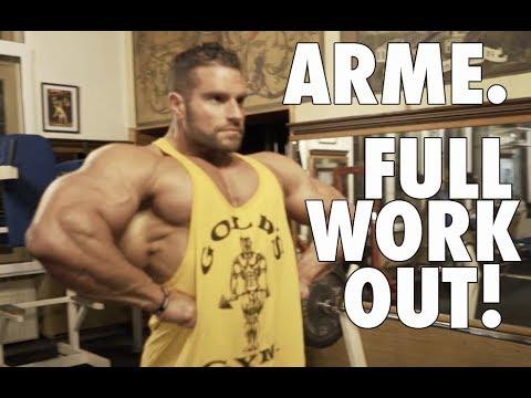Armballertraining! Bizeps, Unterarme, Trizeps im Body Power Studio Weissenthurm | FULL WORKOUT!