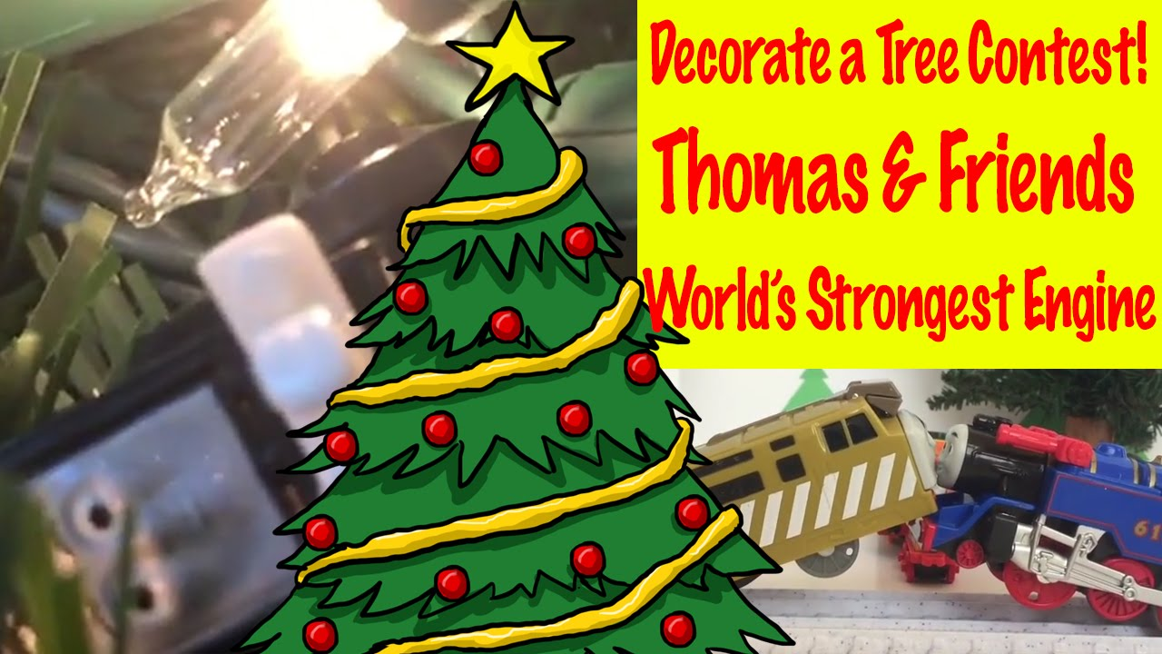 Thomas the train christmas ornament - Thomas And Friends Minis Decorate A Christmas Tree World S Strongest Engine Youtube