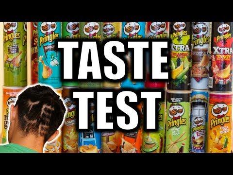 PRINGLES TASTE TEST CHALLENGE!! (LOSER CUTS HAIR)