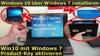 Windows 10 über Windows 7 installieren und mit Win7-Product-Key aktivieren