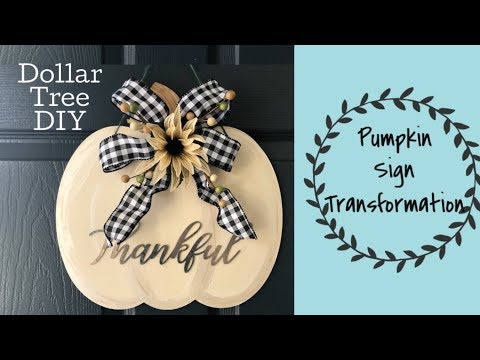 Fall Dollar Tree DIY | Pumpkin Sign  Transformation