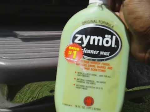 Zymol cleaner wax test review on black paint job