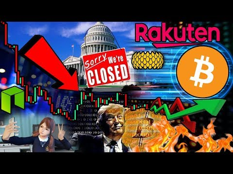 Government Shutdown = CHEAP Bitcoin?!? Japan's AMAZON To Introduce $BTC Payments? $NEO Girl