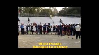 Golden Book Of World Records Most People Shot Put In a Relay   O  P  Jaiswal