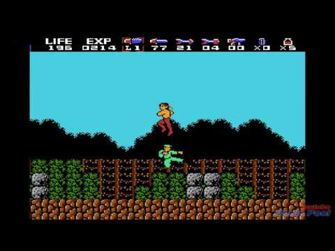 1988 Rambo (NES) Game Playthrough Retro Game