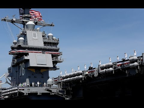 360-degree video: USS Gerald R. Ford Commissioning