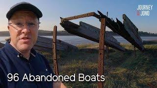 84. Huge Abandoned Boat Graveyard Gloucester & Sharpness Canal
