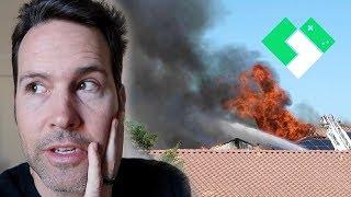 Scary House Fire Near By | Clintus.tv