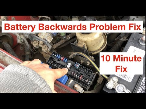 How To Replace Battery Fuse 80A On Nissan – Reversed Battery Post Mistake