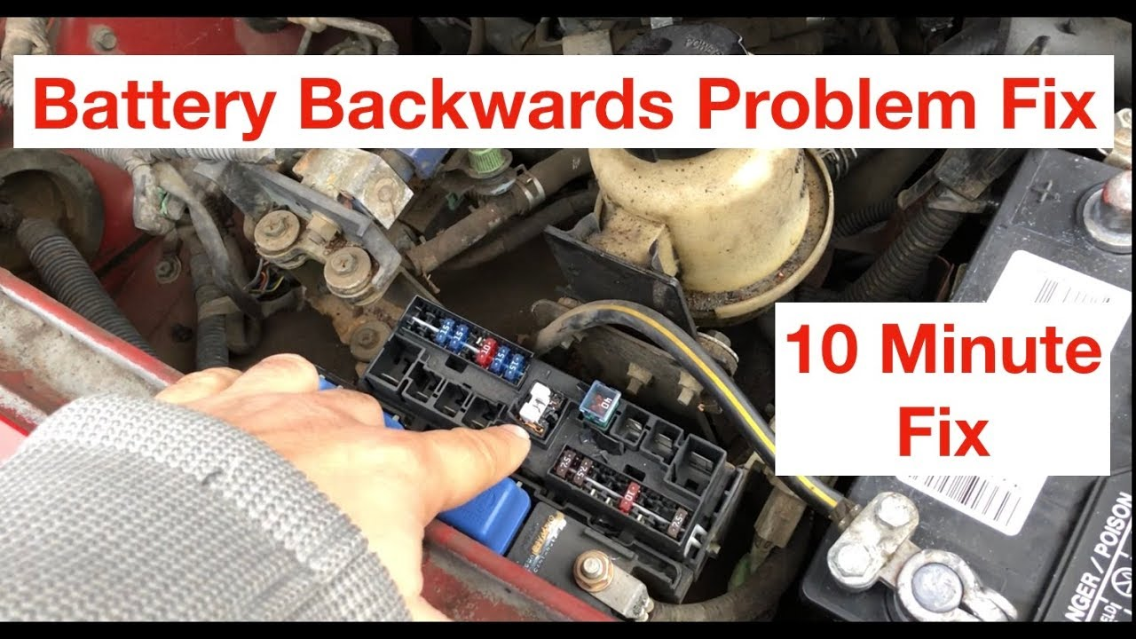 how to replace battery fuse 80a on nissan reversed battery post mistake [ 1280 x 720 Pixel ]