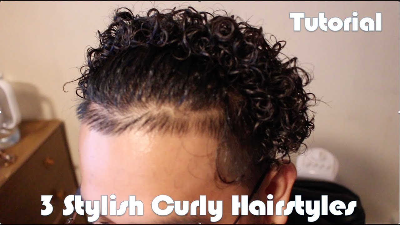 3 Different Ways To Style Medium Length Curly Hair For Men A Must Watch Youtube
