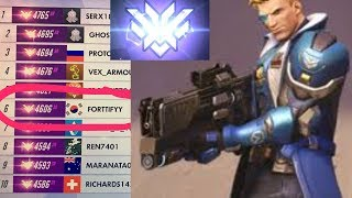 (PS4) Overwatch Top 1% Soldier 71% Kill Participation GM CARRY - Forttifyy 4600SR Career High