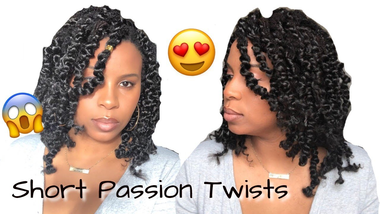 Short Passion Twists Over Locs Rubber Band Method Step
