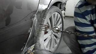 Ремонт BMW e60. Вытяжка и рихтовка панелей