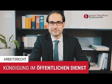 Kündigung und Abfindung im öffentlichen Dienst - Kanzlei Hasselbach
