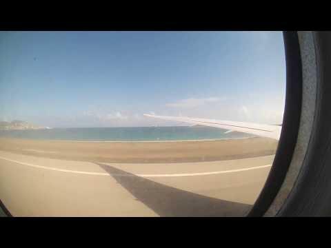Landing at Sint Maarten Airport (GoPro time lapse)