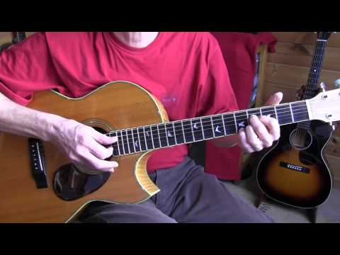 "Lesson ""Johnny Shines"" acoustic blues playing in E - Free TAB"