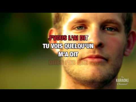 Quelqu'un m'a dit in the style of Louane | Karaoke with Lyrics