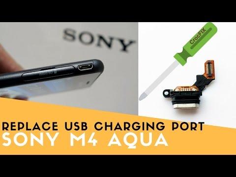 Sony M4 Aqua USB CHARGING port replacement - CrocFIX