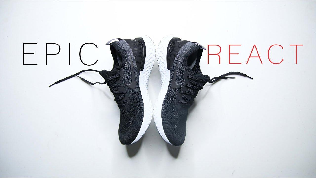 Nike EPIC REACT FLYKNIT BLACK    WORTH IT BUT NOT THE BOOST KILLER ... 5b9dd7b59