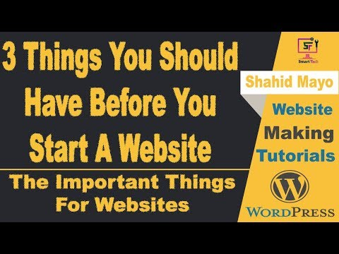 3 Things You should Have Before Create A Website