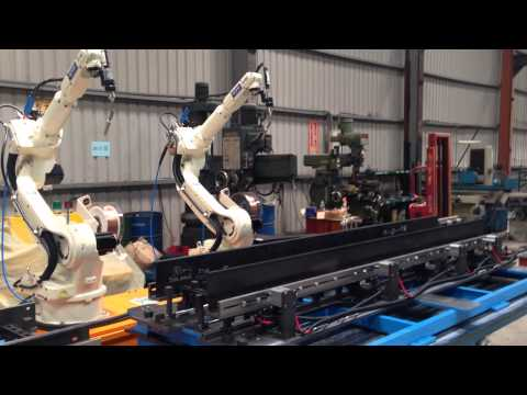 OTC robot welding line for cable ladder