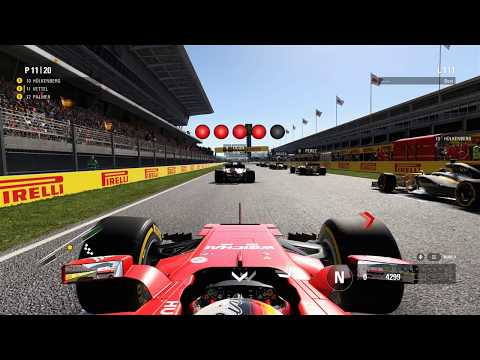 F1 2017 onboard Spain - Spanish Grand Prix Circuit de Barcelona-Catalunya 1 lap