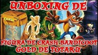UNBOXING DE FIGURA TOTAKU DE CRASH BANDICOOT GOLDEN TOTAKU | CRASH BANDICOOT N. SANE TRILOGY